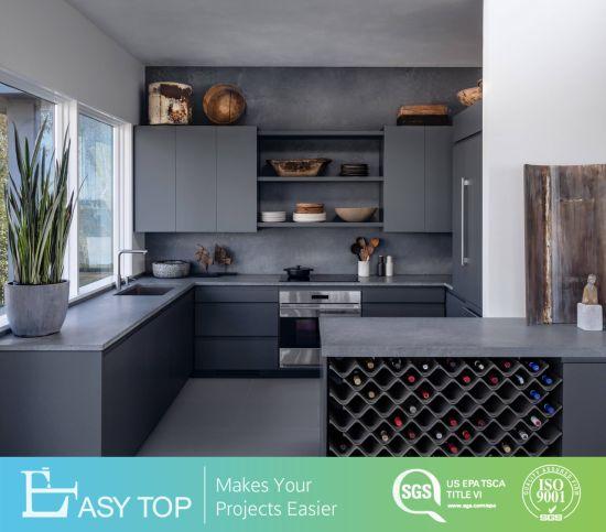 European Modern Type Style High Quality Grey Color Kitchen Cabinet Organizer