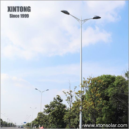 12m Yard Electric Galvanized Solar Power Coated LED Street Road Light Lighting Pole
