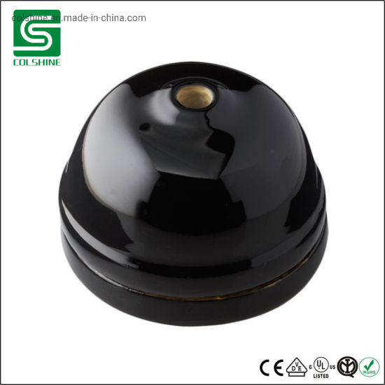 China Ceramic Small Dome Ceiling Rose Black Color China