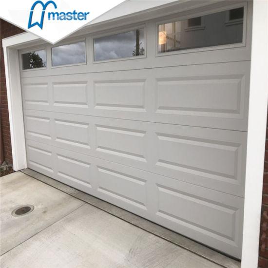China 9x8 Automatic Insulated Steel Overhead Sectional Garage Door China Garage Roller Door Modern Garage Door