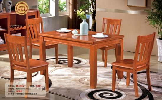 China Solid Oak Wood Home Furniture Antique Dining Wooden Dining Table And Chairs Set China Table And Chair Dining Table Sets