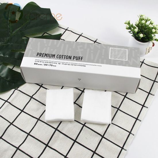 Portable Small Box Package Travel Suit 60PCS Cosmetic Cotton Pads pictures & photos