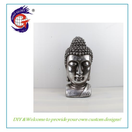 Wholesale Resin Buddha Head Statue Handicraft Sculpture