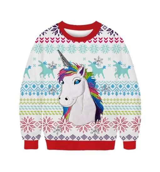 Custom Crew Neck Matching Long Sleeve Knit Casual Men Ugly Christmas Sweater