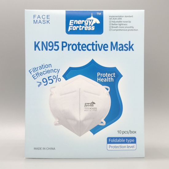 Hot Sale Energy Fortress Brand Protective Foldable Disposable FFP2 N95 KN95 Face Mask