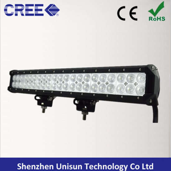 Waterproof 20inch 126W Dual Row CREE 3W LED Light Bar pictures & photos