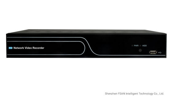 FSAN 4CH 1HDD Full Real-Time Network Video Recorder Mini NVR DVR with Poe