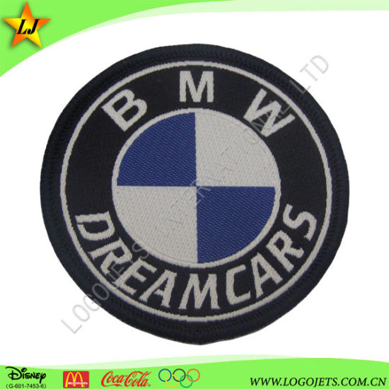 Manufacture High Quality Garment BMW Car Logo Iron on Woven/Embroidery Label Patch