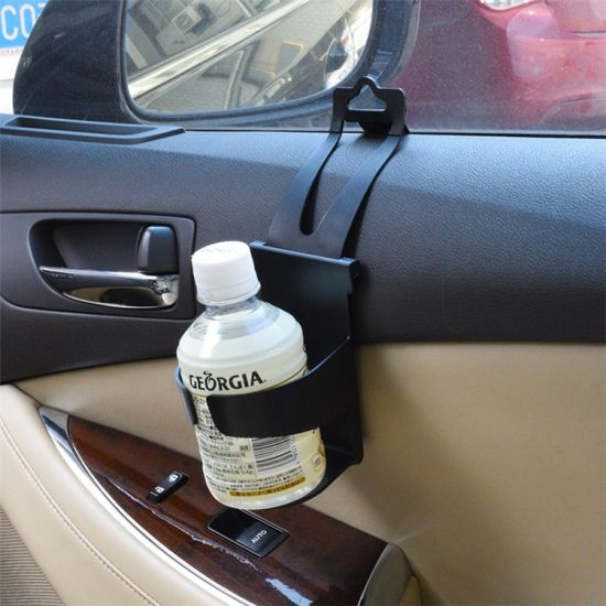 Multi-Function Universal Black ABS Auto Side Door and Back Car Seat Drink Cup Holder