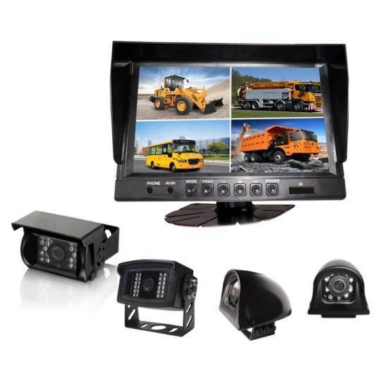 Digital 9 Inches Spilt Quad TFT LCD Car Rear View Color Screen Monitor