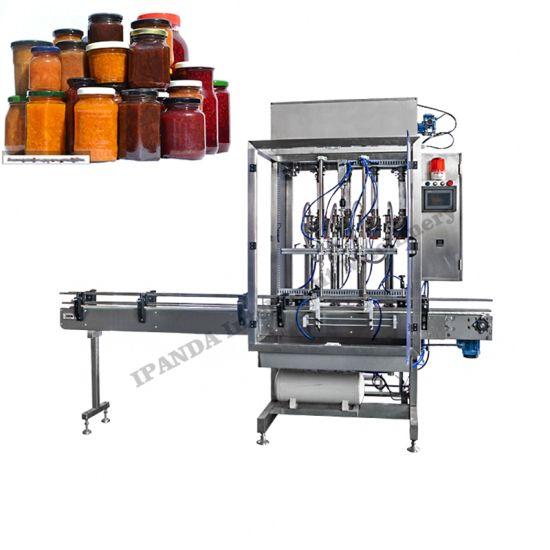 Automatic Fruit Jam Sauce Glass Bottle Filling Machine