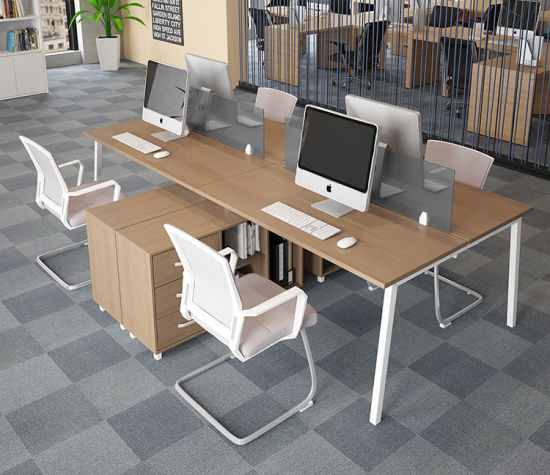 Modern Furniture Two-Person Office Desk with Drawer for Office Workstation pictures & photos