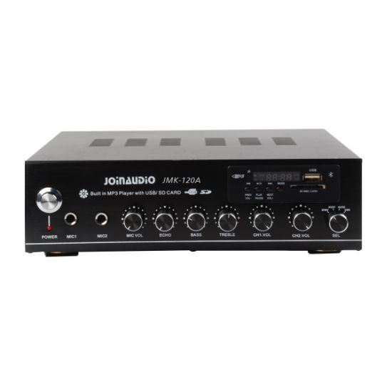 2channel Stereo Amplifier Home Amplifier with MP3 Player (JMK-120A)