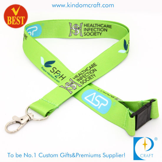 Factory Wholesale Custom Nylon Dye Sublimation Printed Neck Lanyard with Safety Lock for Promotion Gift pictures & photos