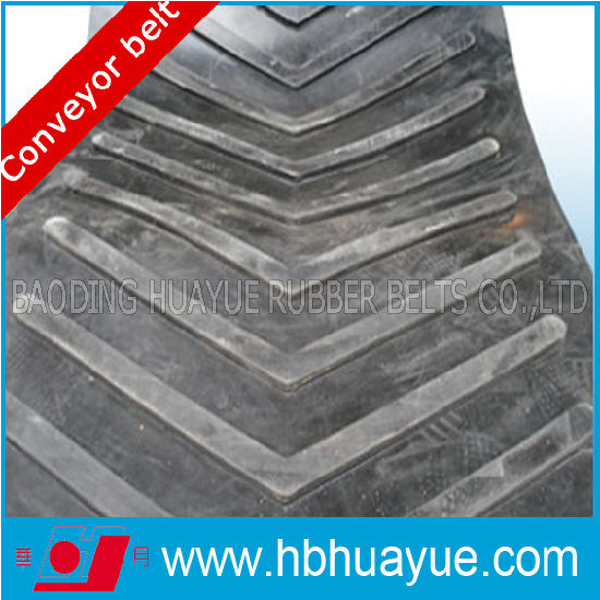 Quality Assured Special Shape Pattern Chevron Figured Rubber Conveyor Belting System Huayue China Well-Known Trademark 100-5400n/mm pictures & photos