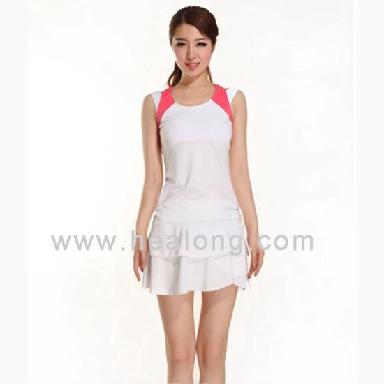 Healong No MOQ Sportswear Dye,Sublimation Printing Badminton Dress pictures  \u0026 photos