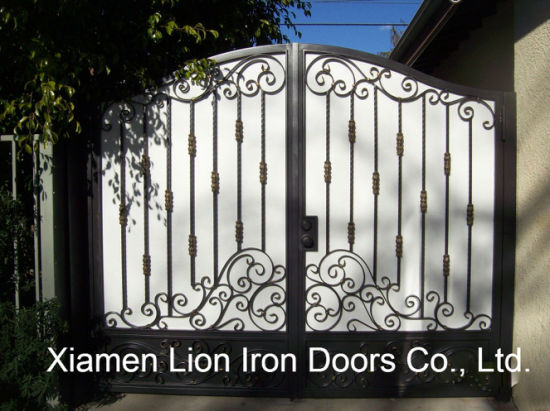 Front Entry Wrought Iron Gates Design For Priviate House China