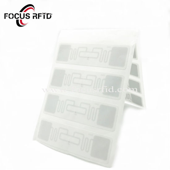 Contactless UHF RFID Sticker Programmed Labels Tag Plastic/ Paper Surface RFID Tag pictures & photos
