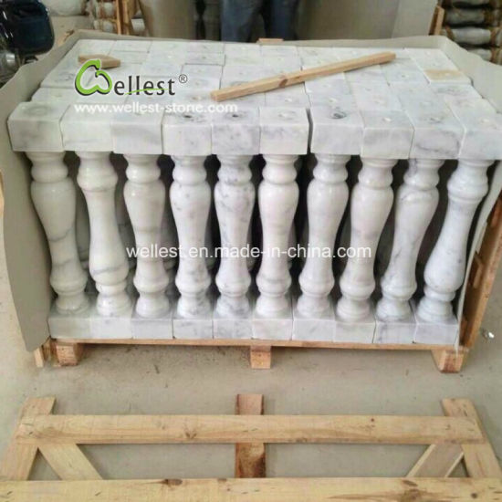 White Marble Balustrade, Marble Staircase, Marble Baluster for Porch/Stairs/Balcony/Front Door/Entrance