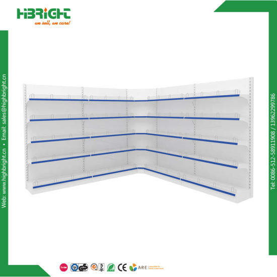 Single Sided Supermarket Metal Wall Shelf pictures & photos