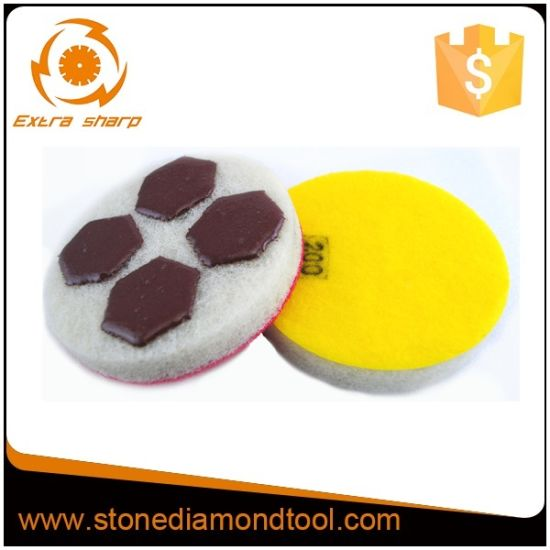 Round Diamond Hand Polishing Pads Hook & Loop /Sponge Pads pictures & photos