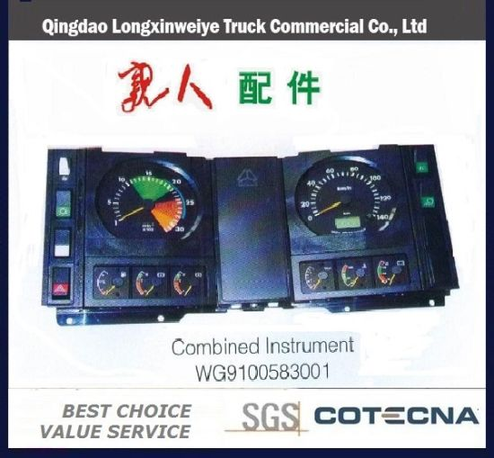 HOWO Auto Truck Parts Combined Instrument