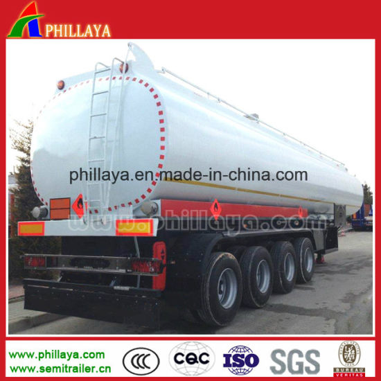 Hot Sale High Quality 3 Axle 40cbm Fuel Transport Tank Tanker Semi Truck Trailer pictures & photos