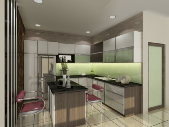 Modern Lacquer Kitchen Cabinets Furniture with Customed Design pictures & photos