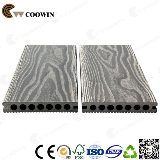 High Strength Hollow Outdoor Deep Wood Grain 3D Grey Flooring pictures & photos