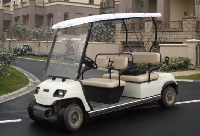 4 Seater White Electric Patrol Car pictures & photos