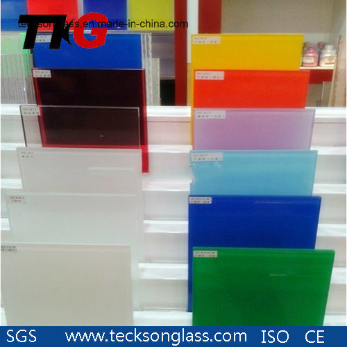 3-12mm Geen /Blue Super White Lacquered Glass for Building