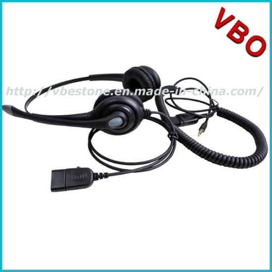 6d4c951c212 3.5mm Audio Jack Headset with Noise Cancelling Microphone Call Center  Headset for Mobile pictures &