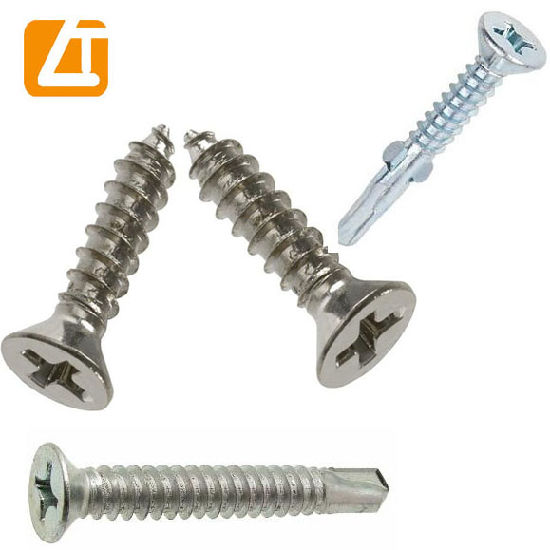 China DIN7982 Phillips Countersunk Head Stainless Steel Self
