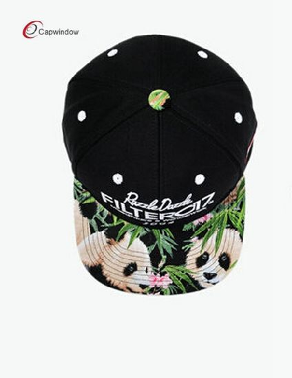 Floral on Brim Embroidery on Baseball Hip PP Snapback Hat pictures & photos