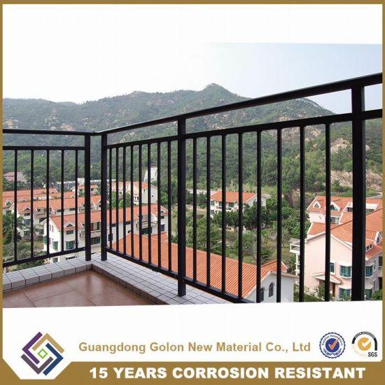 Villa terrace veranda gazebo metal wrought iron balcony balustrade handrail