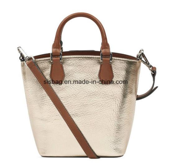 Man Made Materials Metalic Pu Handbag Grab Crossbody Bags