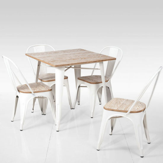 Admirable China Metal Tolix Table And Chair Indoor Outdoor Dining Set Theyellowbook Wood Chair Design Ideas Theyellowbookinfo