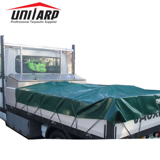 Grey 8X5 Trailer Cover, Dust Proof and Waterproof PVC Printable Tarpaulin for Trailer Cover