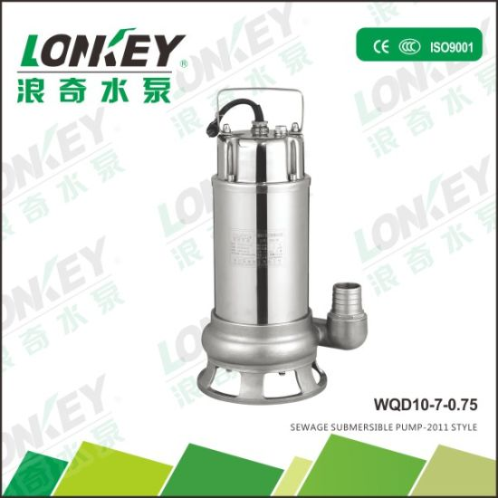 Industrial Water Pump Stainless Steel Submersible Sewage Pump
