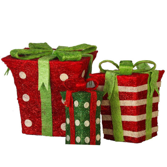 Christmas Packing Box with Ribbon