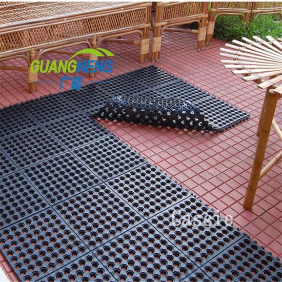 Interlocking Anti-Slip Drainage Acid Resistant Hotel Rubber Mats