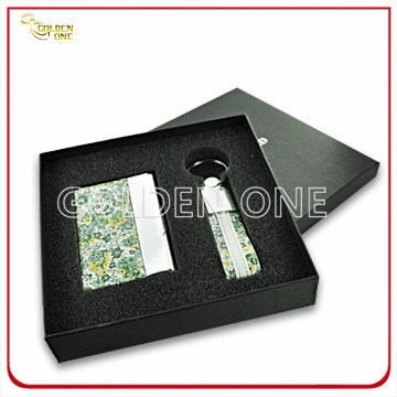 Fancy Design Leather Card Case and Key Ring Executive Gift pictures & photos