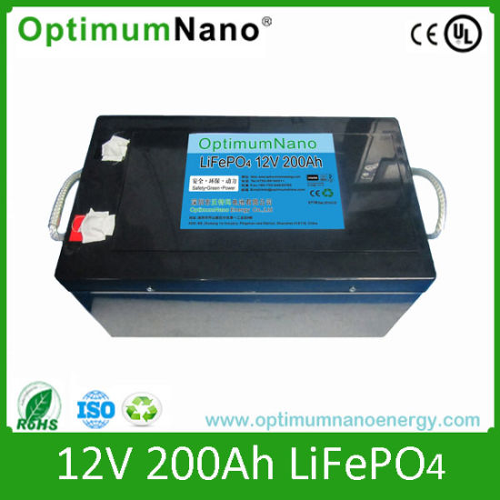 Rechargeable Solar Panels 12V 200ah Lithium Battery Pack