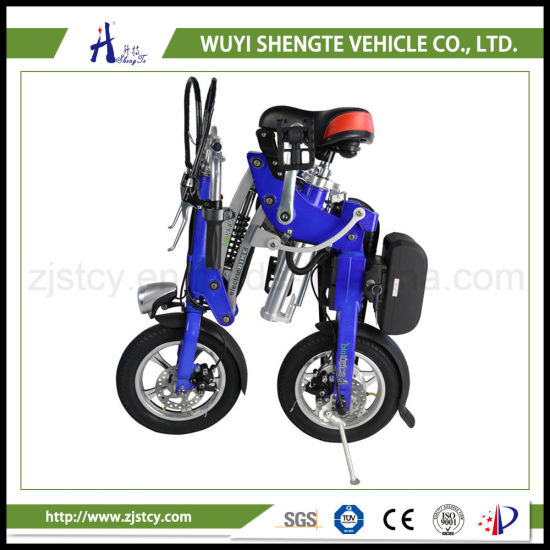 350W 36V 10ah Rear Suspension Mini Folding Electric Scooter / Bicycle. pictures & photos