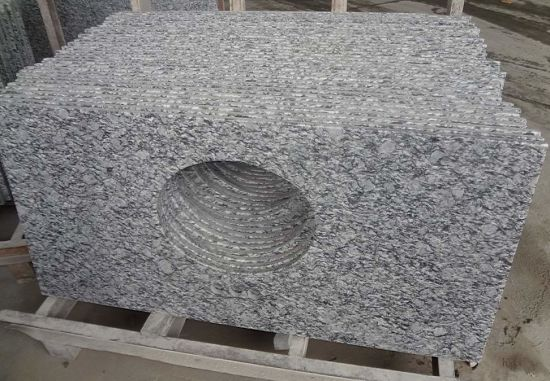 Wave White Granite Slabs to Cut Countertops pictures & photos