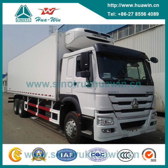 Sinotruk HOWO 6X4 Diesel Engine Thermo King Refrigerated Truck