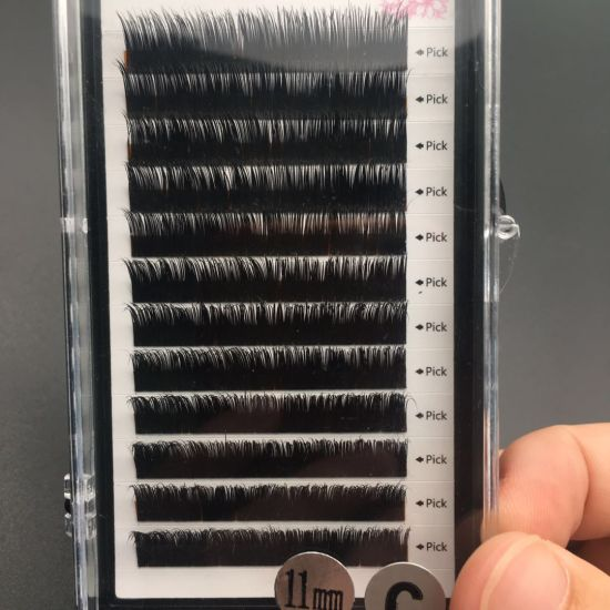 e3c7b73be97 Russian Volume Premade Fans Flat Silk Eyelashes Extensions with Wholesale  Price