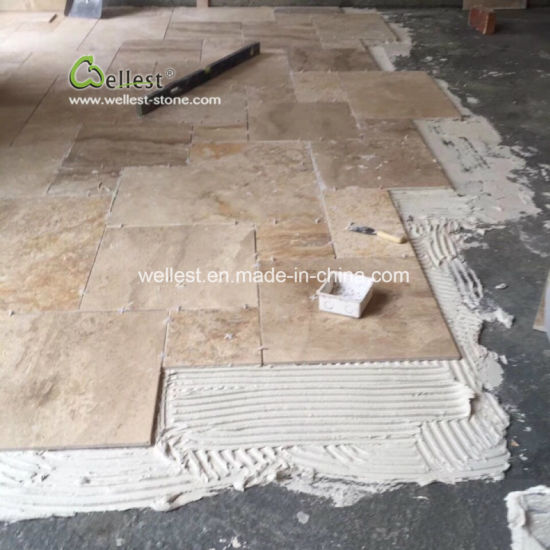 Beige Color French Pattern Travertine