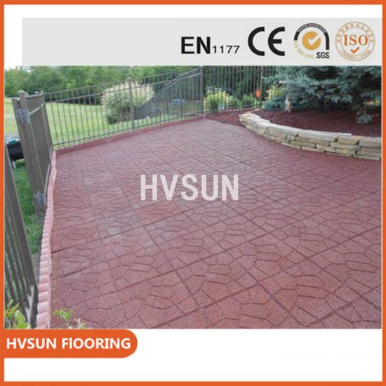 China Commercial Use Event Newest Design Grass Mat Rubber Flooring