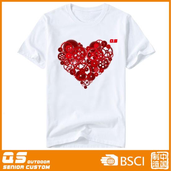 Women's Summer Heart Print Sports Running Quick Dry Loose T-Shirt
